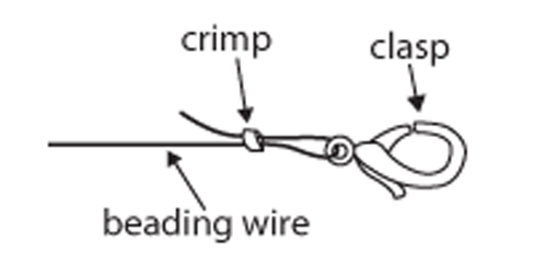 how to crimp and clasp diagram