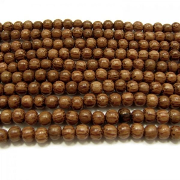 natural palm wood rounds