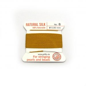 amber yellow silk cord