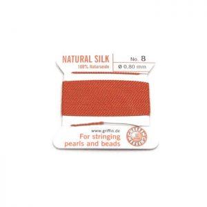 coral orange silk cord