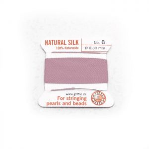 dark pink silk cord