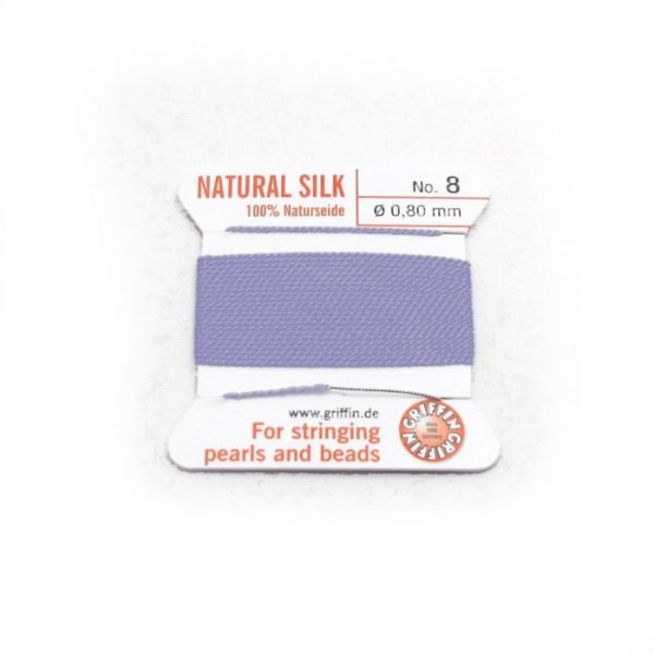 lilac purple silk cord