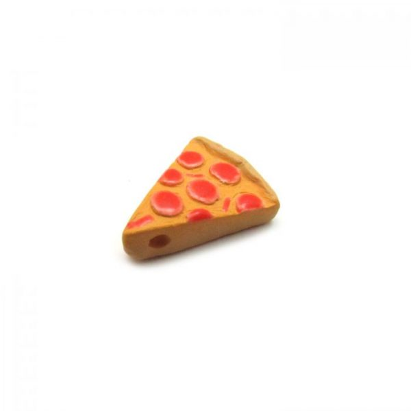 Ceramic Bead Large Pizza Slice side view