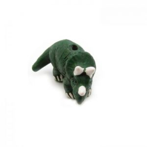 Ceramic Bead Large Triceratops front view