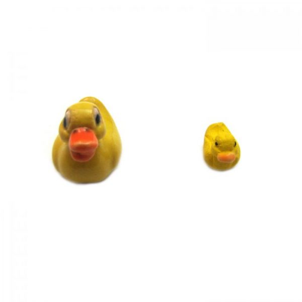 Ceramic Bead Large and Small Duck front view