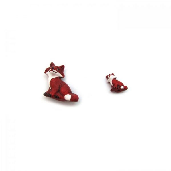 Ceramic Bead Large and Small Fox