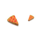 Ceramic Bead Large and Small Pizza Slice side angle view