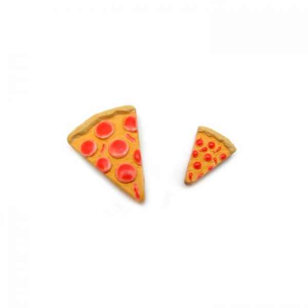 Ceramic Bead Large and Small Pizza Slice top view