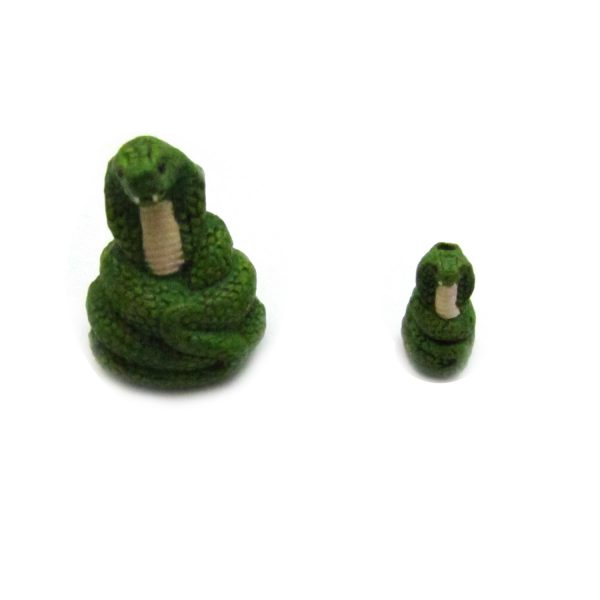 Ceramic Bead Large and Small Snake front side