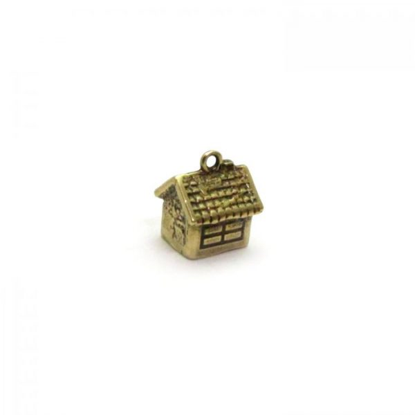 bird house gold plated single front