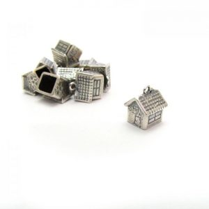 bird house silver plated