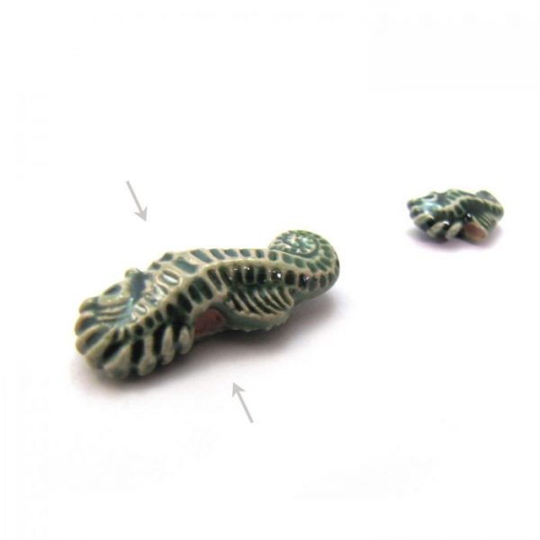 ceramic animal beads large and small - seahorse