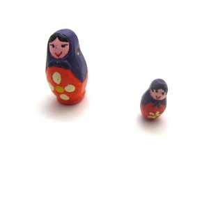 Babushka Dolls ceramic beads large and small