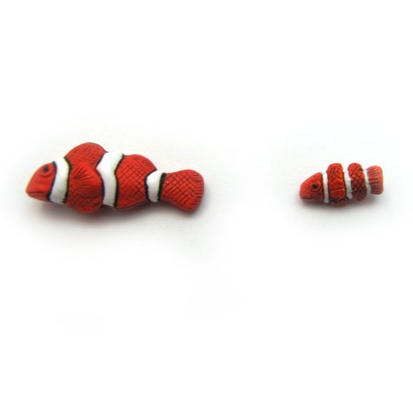 Clownfish ceramic beads large and small2