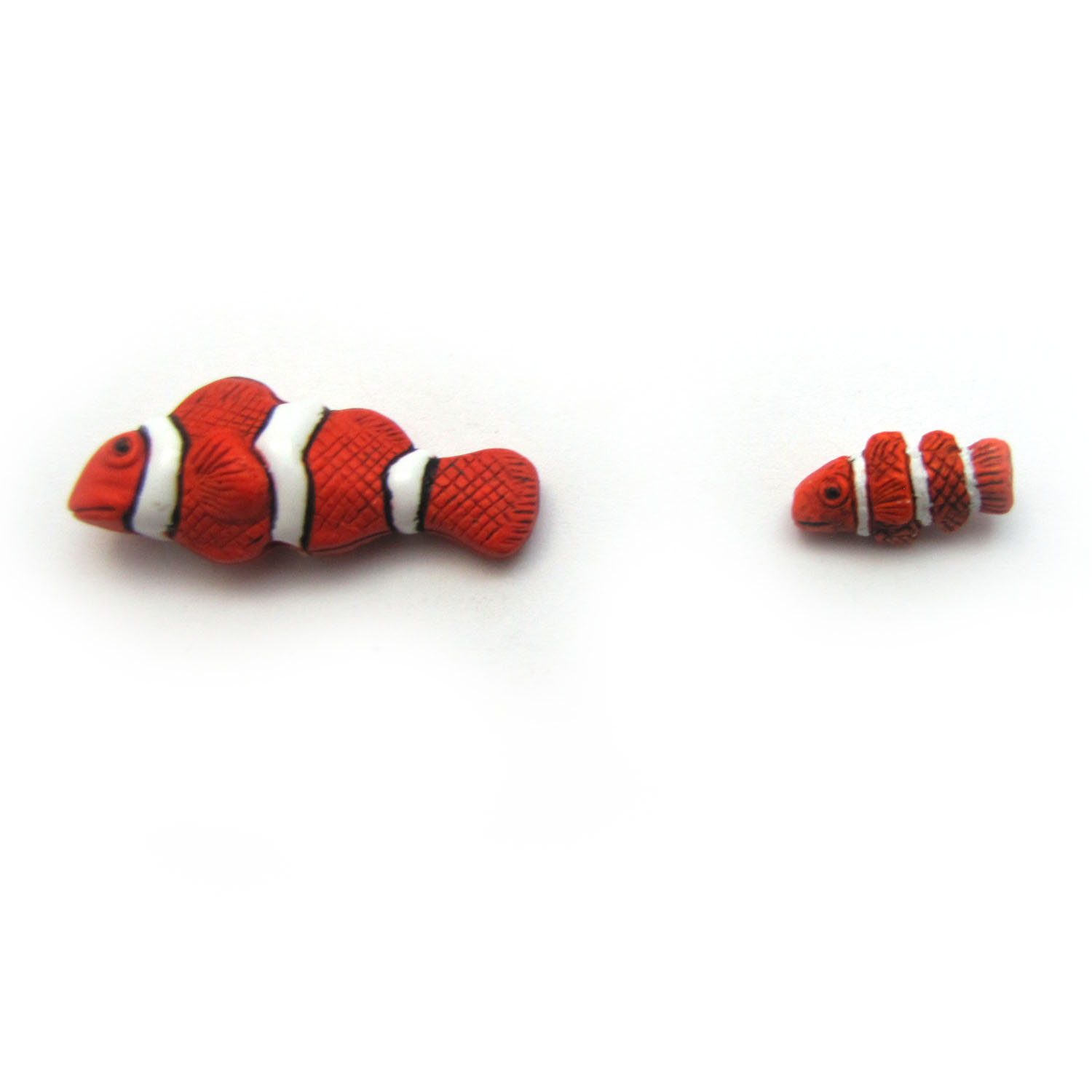 Clownfish ceramic beads large and small