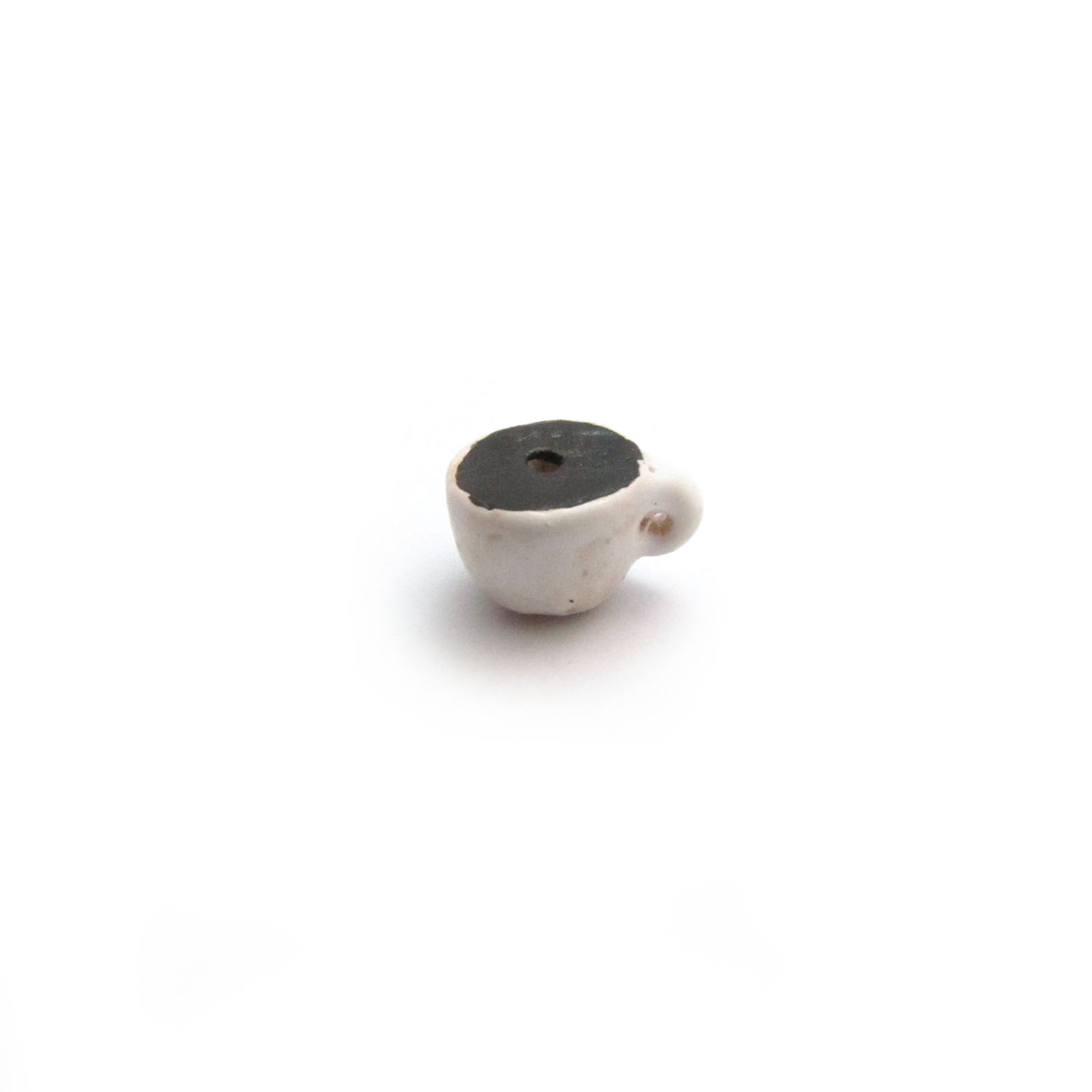 Coffee Cup ceramic beads large and small