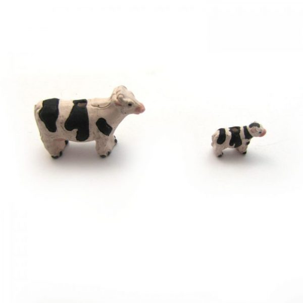 Cow ceramic beads large and small