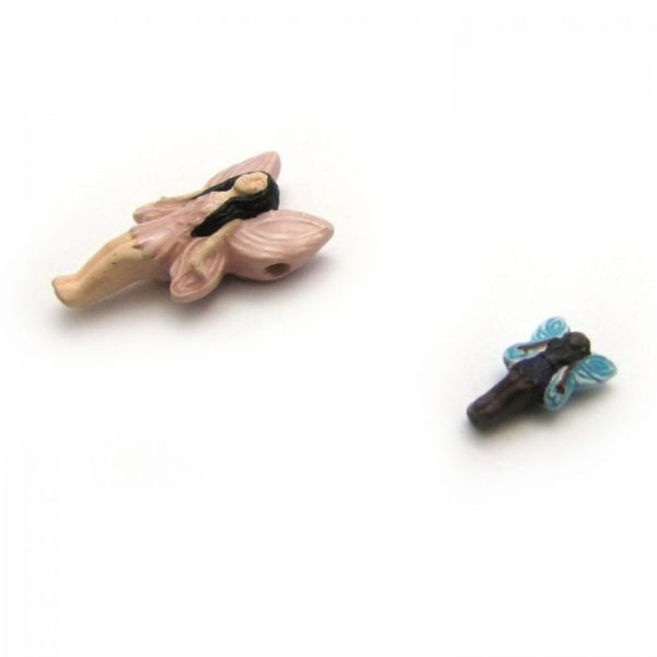 Fairy ceramic beads large and small