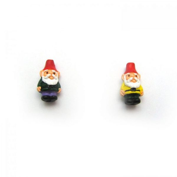 Garden Gnome ceramic beads large and small