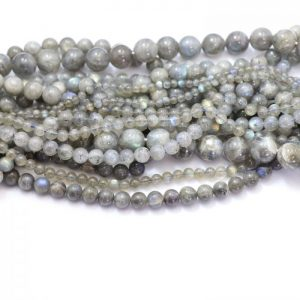 Labradorite strand smooth round stones group image