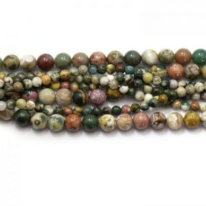 Ocean Jasper strand smooth round stones group image
