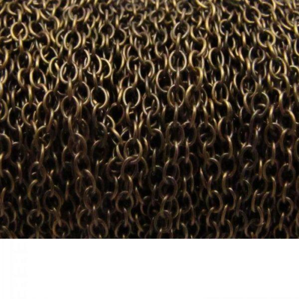 Oval chain 1813 brass oxidized