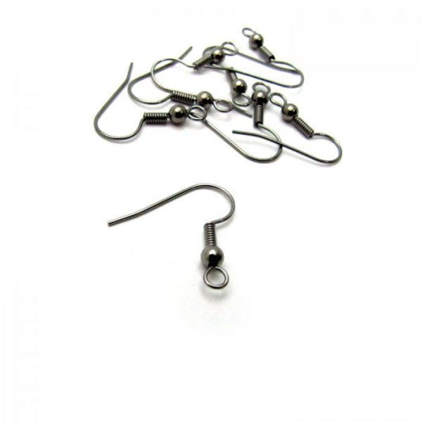 base metal gunmetal plated french hook with ball