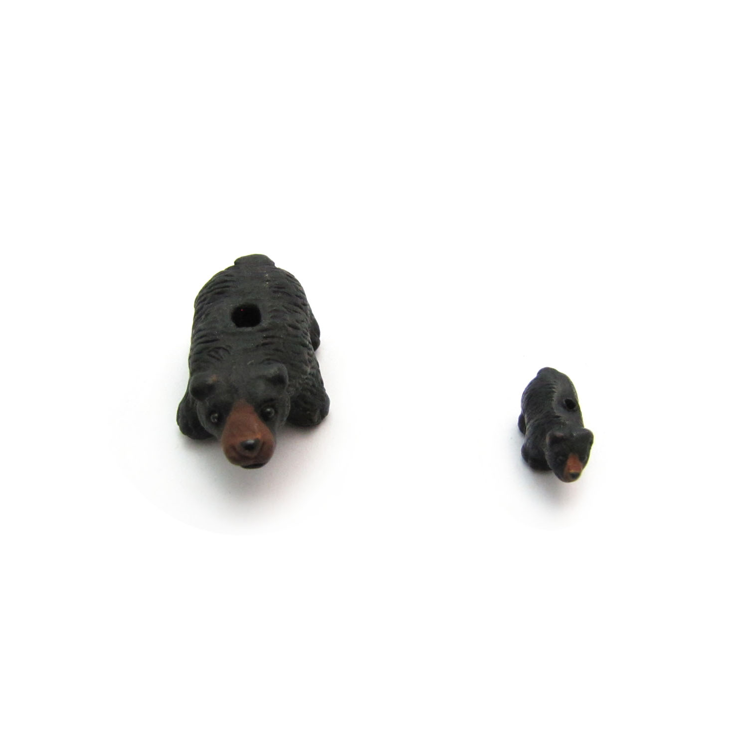 black bear front on and small ceramic beads