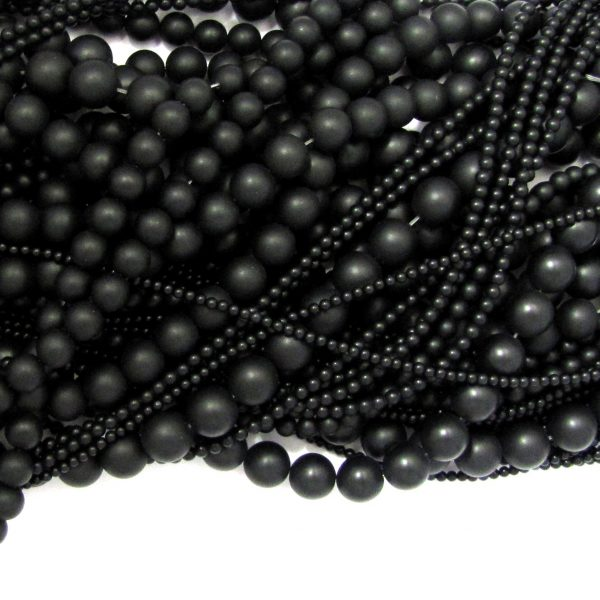 black onyx matte smooth rounds mixed size shot