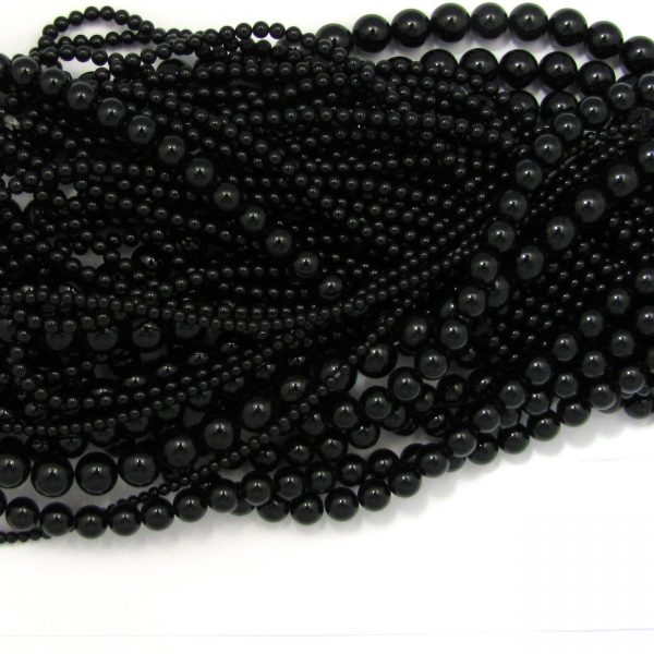 black onyx smooth rounds mixed size shot