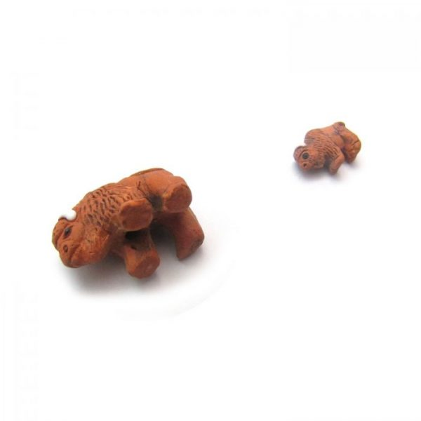 buffalo from base and small ceramic beads