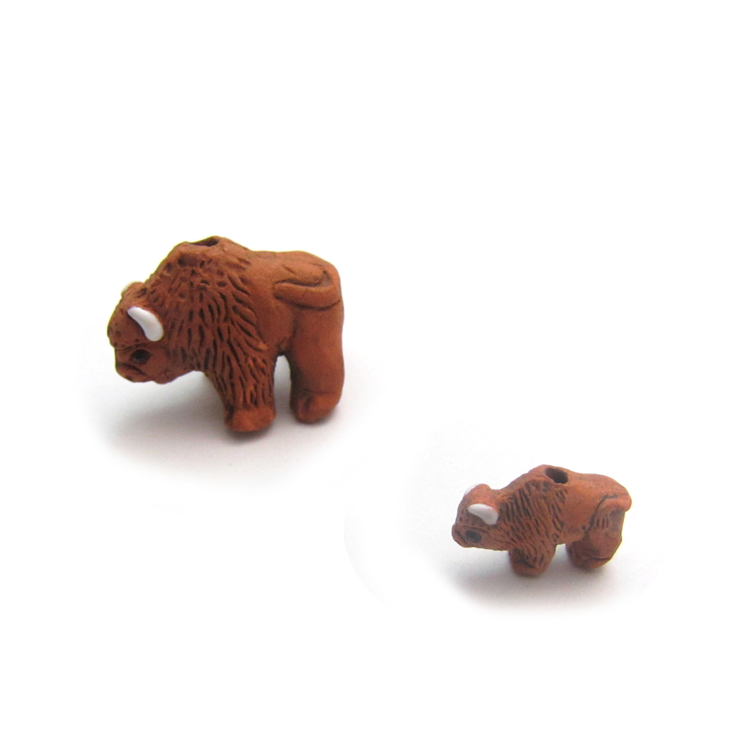 buffalo large and small ceramic beads
