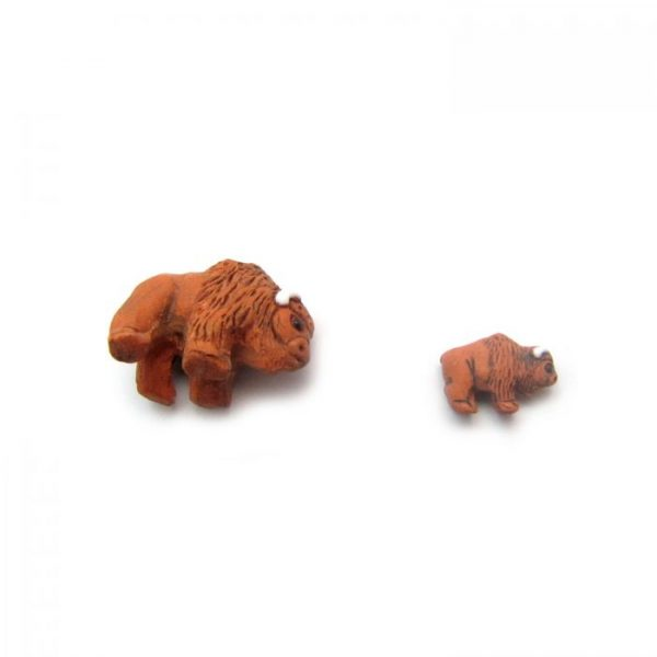 buffalo side on and small ceramic beads