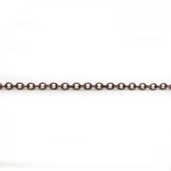 cable chain base metal antique copper 2214X length