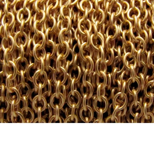 cable chain base metal chain 2911x gold plated spool