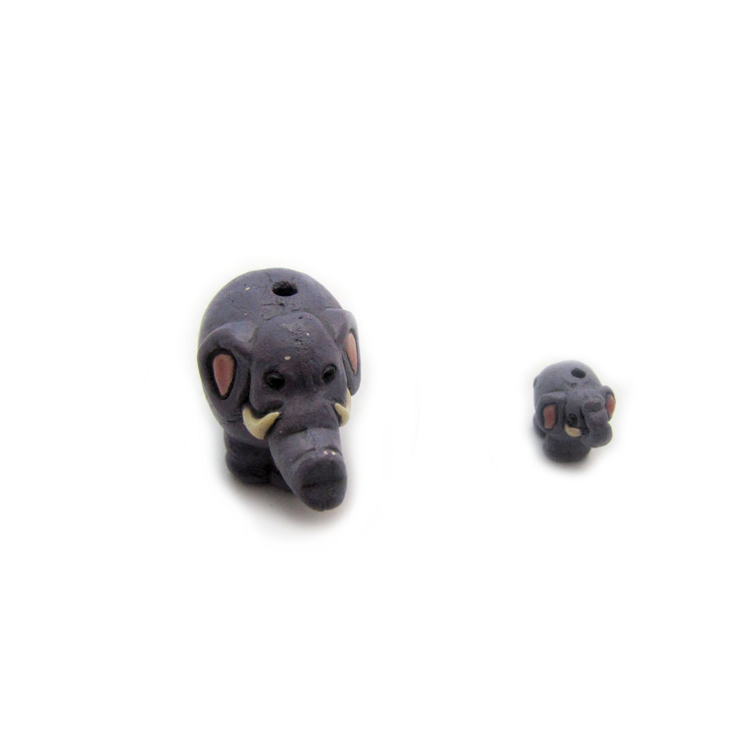 cartoon elephant ceramic beads large and small