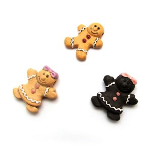 ceramic animal beads large and small - Gingerbread