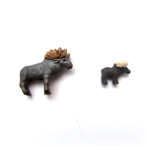ceramic animal beads large and small – Moose