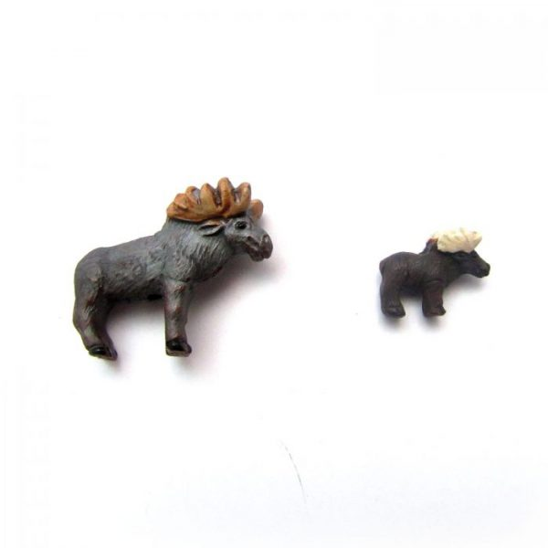 ceramic animal beads large and small - Moose