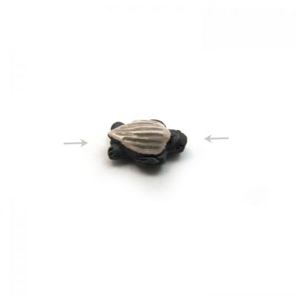 ceramic animal beads large and small - leatherback turtle