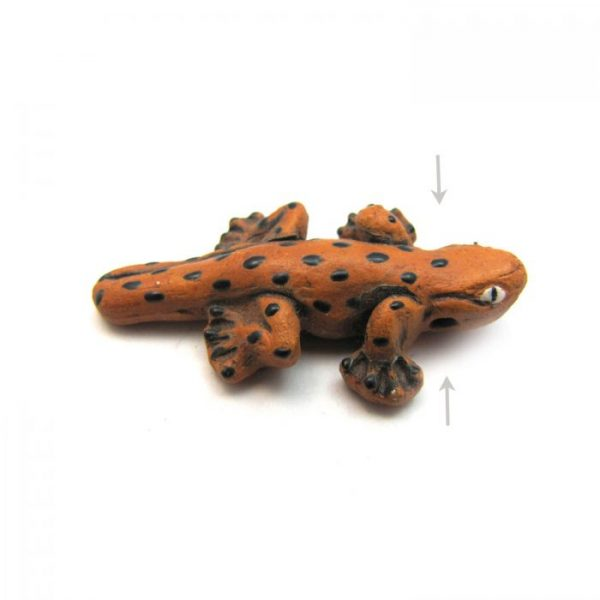 ceramic animal beads large and small - salamander