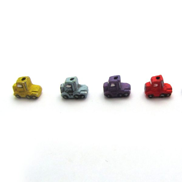 ceramic animal beads large and small – semi-truck