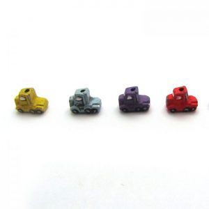 ceramic animal beads large and small - semi-truck