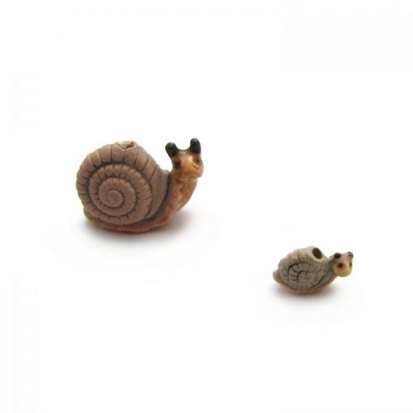 ceramic bead large and small snail