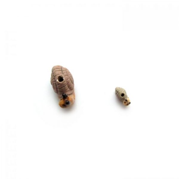 ceramic bead large and small snail view from top