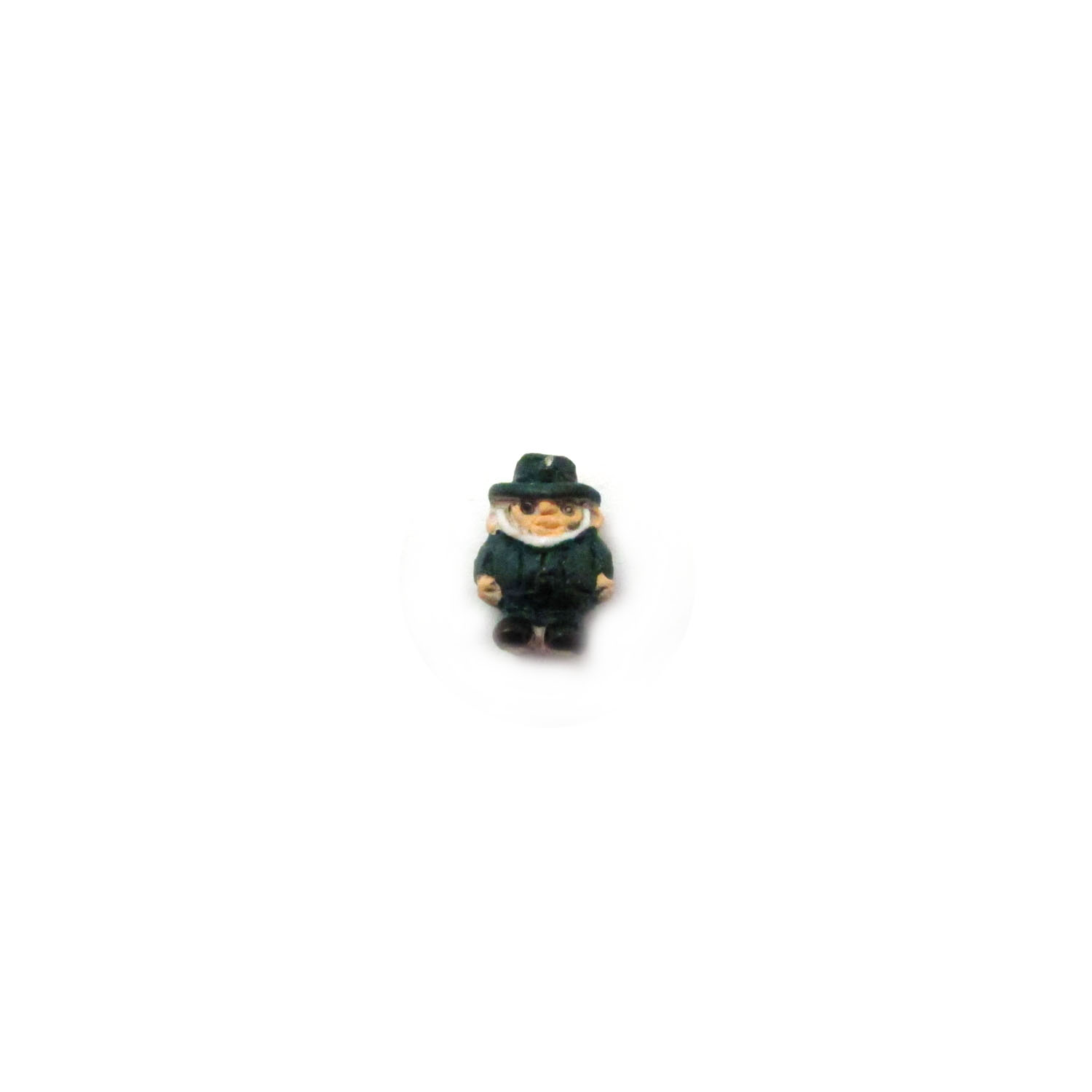 ceramic bead small leprechaun front view