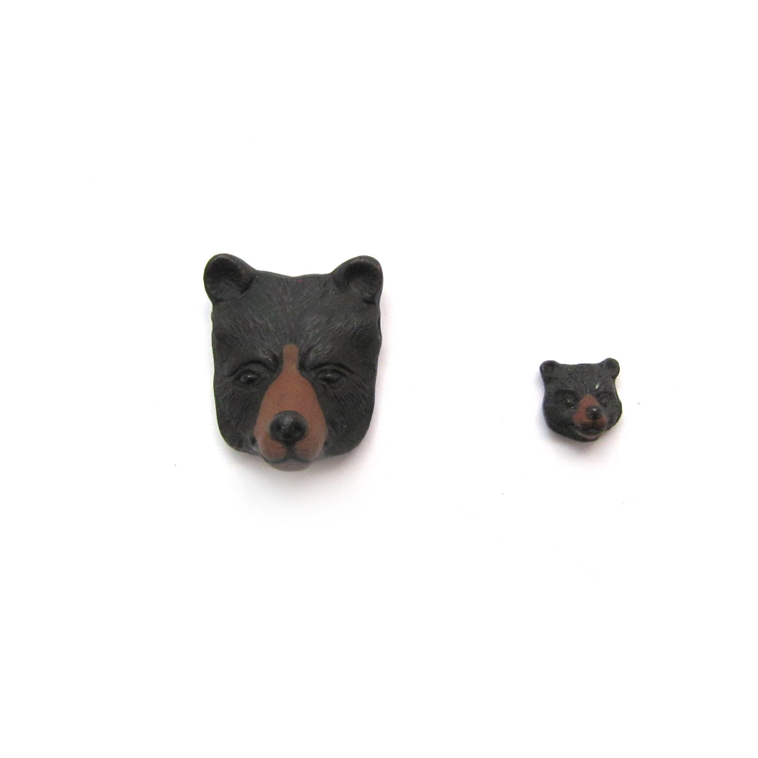 bear face ceramic beads large and small