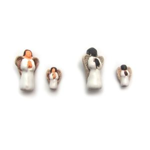 Angel ceramic beads large and small