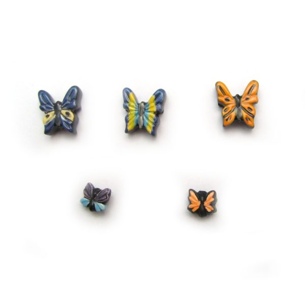 ceramic beads large and small butterfly all