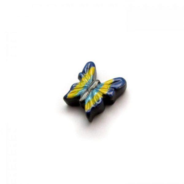 butterfly ceramic beads large and small